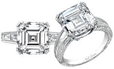 Neil Lane asscher with tapered baguettes