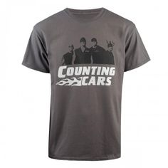 Counting Cars Crew T-Shirt - Charcoal