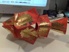 Chinese New Year Decoration - Lai See (Red Pocket) Fish - DIY