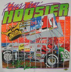 sprint car, vintag tshirt, steve kinser, kinser hurrin, hoosier tshirt