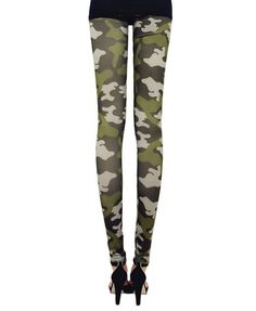 Leggings in Camo Print