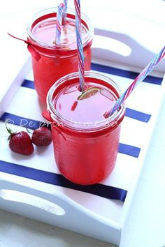Strawberry and Rhubarb Limeade