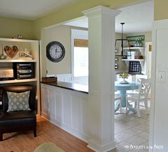 dining rooms, wall trim, new houses, living rooms, kitchen redo, dining room walls, family rooms, kitchen walls, room dividers