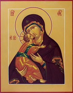 Theotokos of Vladimir.  This is the icon a writer traditionally starts with.