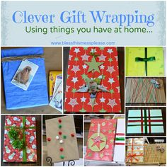 Clever Gift Wrapping Ideas. Using things you have at home.  Do It