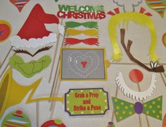 PDF  Grinch Christmas photo booth by chelawilliams on Etsy, $3.95