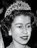 Lovers knot tiara being worn
