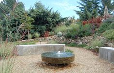 millston fountain, landscap architectur, landscape architecture, fountains, water features, garden oasi, disappear fountain, modern water, huettl landscap