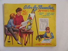 1960 Whitman Color by Number Book by dirtybirdiesvintage on Etsy, $15.00