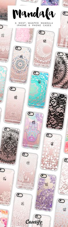 "All time favourite mandala lace iPhone 6 protective phone cases | Click through to see more laceprint iphone case ideas >>> <a href=""https://www.casetify.com/artworks/rvL5DerMBZ"" rel=""nofollow"" target=""_blank"">www.casetify.com/...</a> 