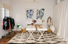 Margaret Elizabeth Jewelery - LOVE this glam shared space.