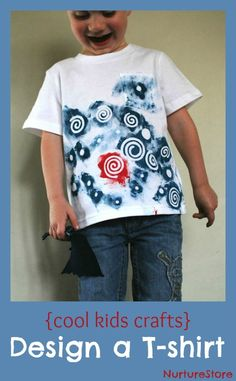 Cool kids crafts: design your own t-shirt with this great art technique from Artchoo!