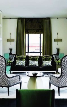 emerald sofa + white legs