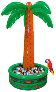 Inflatable palm tree drinks cooler!