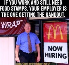 If you work and still need food stamps,.