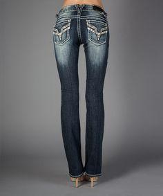 Loving this Dark Blast Chelsea Bootcut Jeans - Women on #zulily! #zulilyfinds