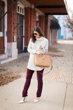 Bordeaux and taupe