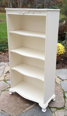 Shabby chic bookcase on pinterest striped carpet stairs shabby chic