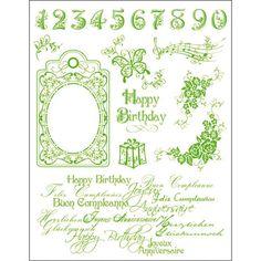 Surtido sellos Acril. Motivos Cumpleaños