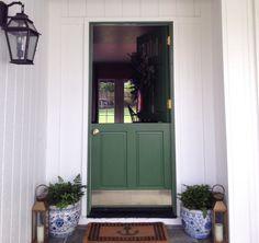 green, dutch door - Grace Happens house via Holly Mathis