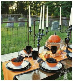 Halloween Table Decorations - Create a Ghostly Table Setting!