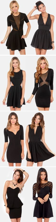 Everyone needs a LBD for holiday parties!! #lulus #holidaywear Black Party Dresses via lulus.com
