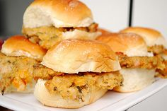 chicken, cheddar, and apple sliders
