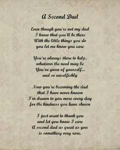 Insirational poem for step dads