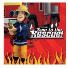 Fireman Sam Birthday Party napkins