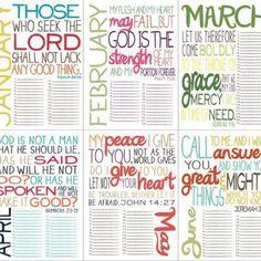 Free printable verse calendar