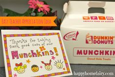 teacher appreciation, school, teacher munchkins2, teacher gift, appreci idea