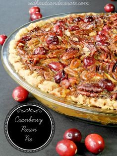 Amazing and festive: Cranberry Pecan Pie   ☀CQ #thanksgiving   http://www.pinterest.com/CoronaQueen/give-thanks/