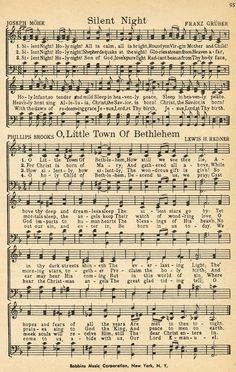 Christmas Sheet Music On Pinterest Vintage Sheet Music