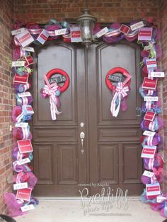 doll party, girl doll, entry doors, girl parties, birthday parties, front doors, box, parti idea, american girls