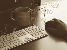 10 #Genealogy Things You Need to Know Today, Wednesday, 16 July 2014, via 4YourFamilyStory.com. #needtoknow #familytree