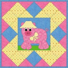 Pig in a Blanket Quilt - @Carol Steely has created the most adorable applique quilt pattern for kids out now! See how easy it is to make a cute little piggie for your next kid's quilt pattern with this tutorial.
