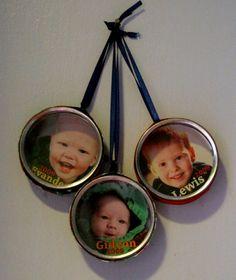 Make Photo Tin Ornaments