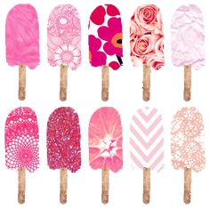 pink roses, ice blocks, summer art, pattern, lollipop, art prints, diy artwork, design art, nautical design