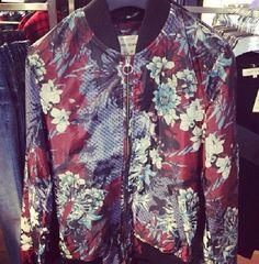 River Island | Floral Bomber Jacket