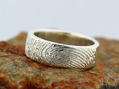 Your Custom Fingerprint Ring  Sterling Silver by EESilverStudio, $209.00