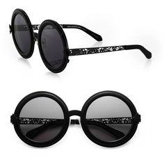 Karen Walker Peek-A-Boo Filigree Round Sunglasses Need these ASAP!