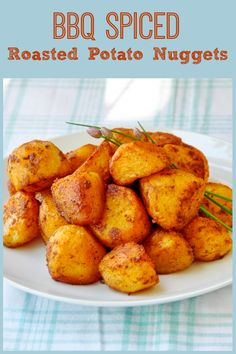 Barbeque Spiced Roasted Potato Nuggets - a terrific summer barbeque side dish or at any time of the year. This recipe takes plain old potatoes to a whole new level of flavor and goes with practically anything off the summertime grill.