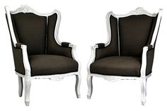French Wing Back Chairs