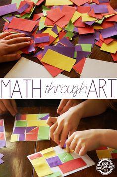 art classroom, math art projects, math night, math + art, art and math