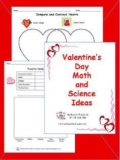 Valentine's Day Math and Science ideas. subhubonline.blogspot.com