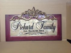 Family Name Plaque by Signs for Design Www.facebook.com/signsfordesign