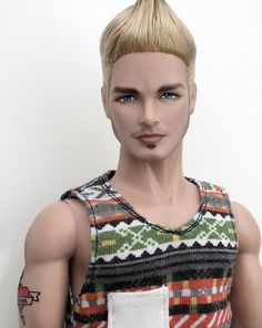 Micky, Custom Male Fashion Doll.