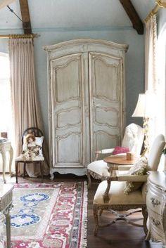 decor, interior, idea, dream, french countri, armoirescabinetscupboard, habersham, furnitur, bedroom