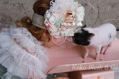 Vintage Detecto Baby Scale Pink, huge headband