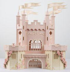 paper craft, papercraft, paper castl, pink paper, en papel